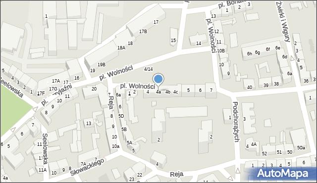 Słubice, Plac Wolności, 4a, mapa Słubice