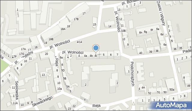 Słubice, Plac Wolności, 4c, mapa Słubice