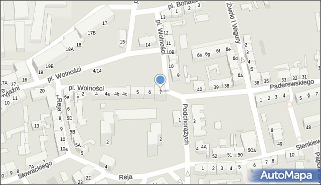 Słubice, Plac Wolności, 7, mapa Słubice
