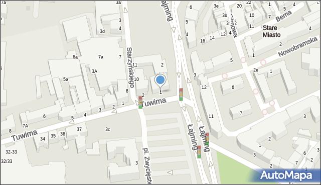 Słupsk, Plac Zwycięstwa, 1, mapa Słupska