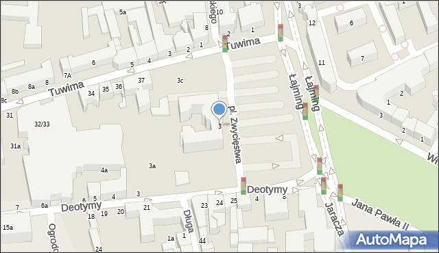 Słupsk, Plac Zwycięstwa, 3, mapa Słupska
