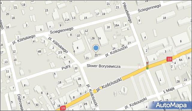 Sokółka, Plac Kościuszki Tadeusza, gen., 23, mapa Sokółka