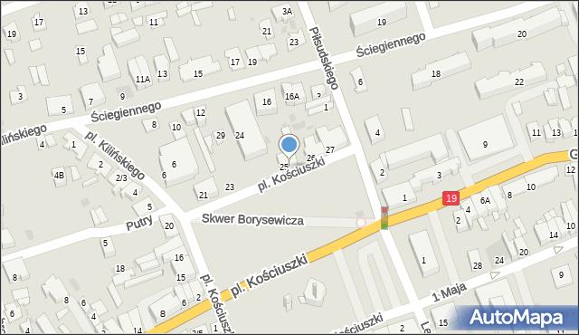 Sokółka, Plac Kościuszki Tadeusza, gen., 25a, mapa Sokółka