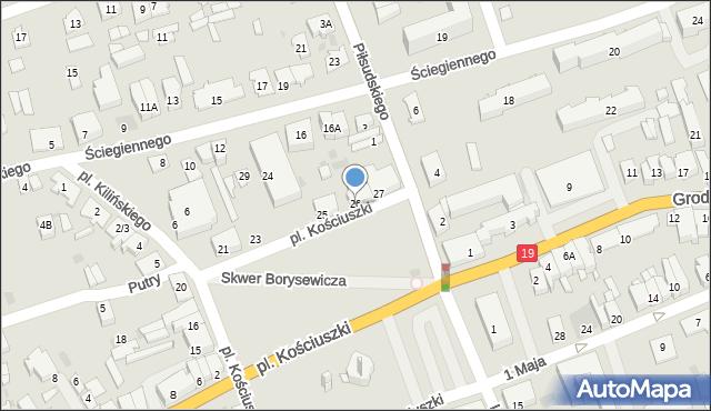 Sokółka, Plac Kościuszki Tadeusza, gen., 26, mapa Sokółka