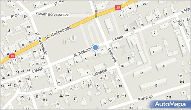 Sokółka, Plac Kościuszki Tadeusza, gen., 4, mapa Sokółka
