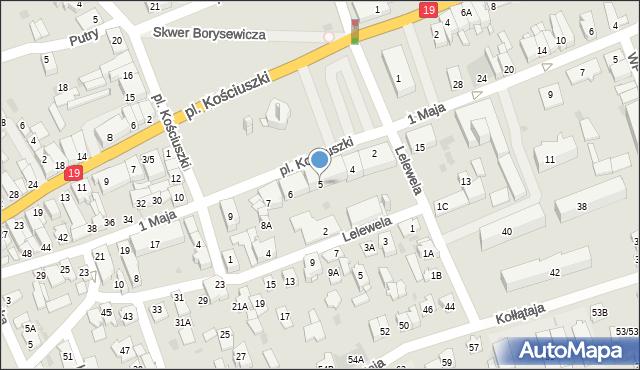 Sokółka, Plac Kościuszki Tadeusza, gen., 5, mapa Sokółka