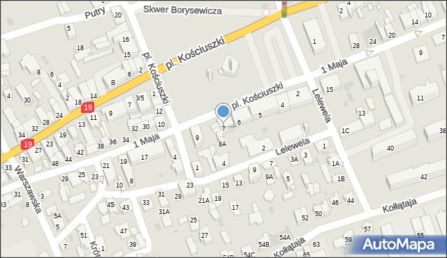 Sokółka, Plac Kościuszki Tadeusza, gen., 7, mapa Sokółka