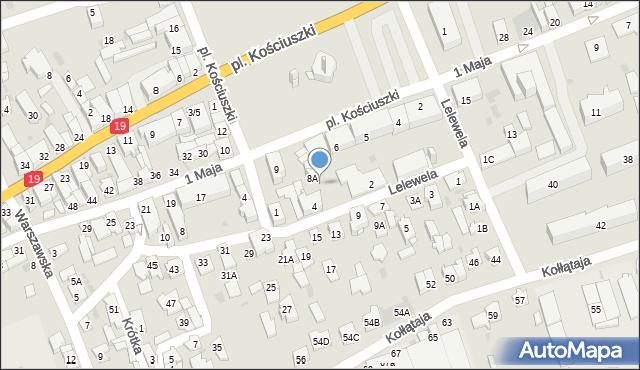 Sokółka, Plac Kościuszki Tadeusza, gen., 8C, mapa Sokółka
