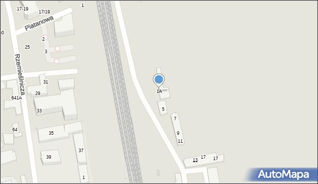 Sopot, Platanowa, 1A, mapa Sopotu