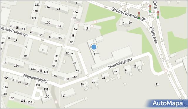 Sosnowiec, Plac Zillingera Waldemara, 1, mapa Sosnowca