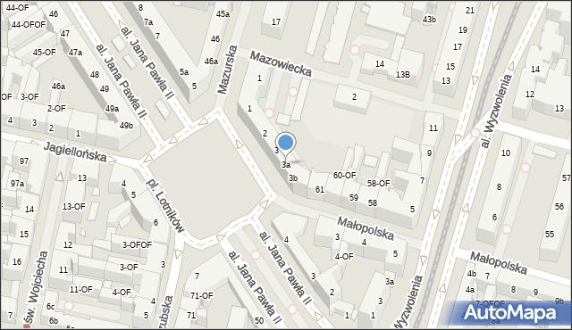 Szczecin, Plac Lotników, 3a, mapa Szczecina