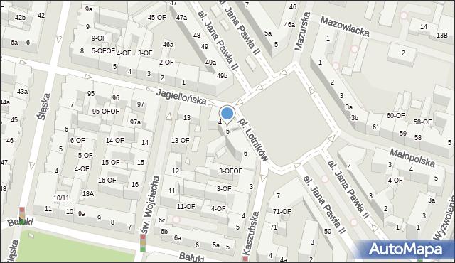 Szczecin, Plac Lotników, 5, mapa Szczecina