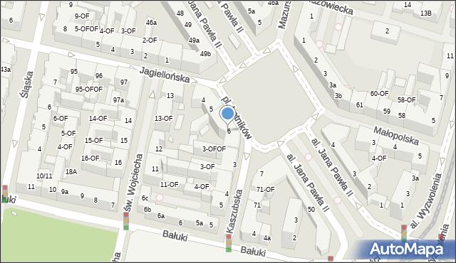 Szczecin, Plac Lotników, 6, mapa Szczecina
