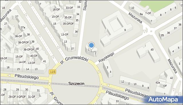 Szczecin, Plac Grunwaldzki, 1/2, mapa Szczecina