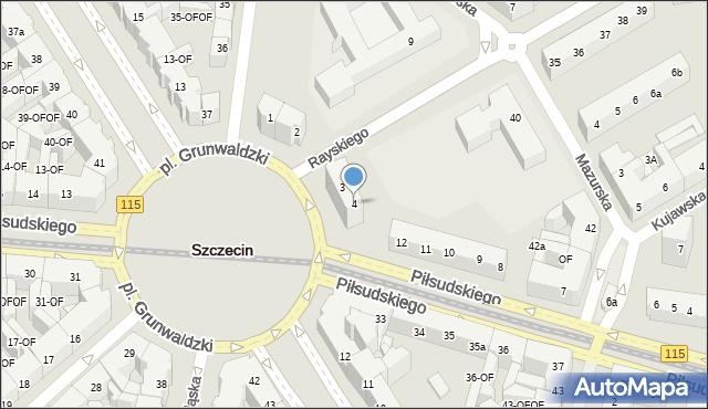 Szczecin, Plac Grunwaldzki, 4, mapa Szczecina