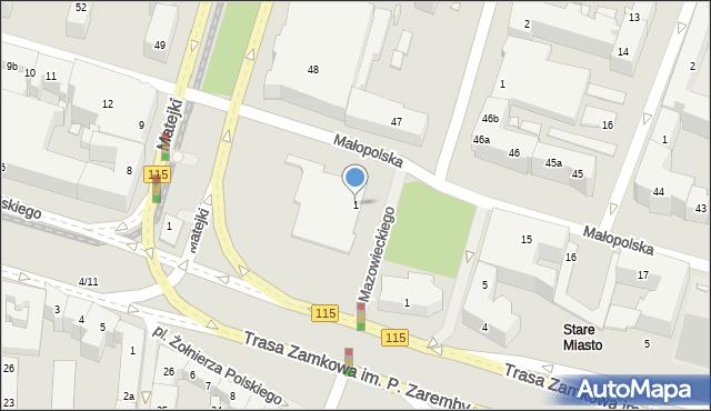 Szczecin, Plac Solidarności, 1, mapa Szczecina