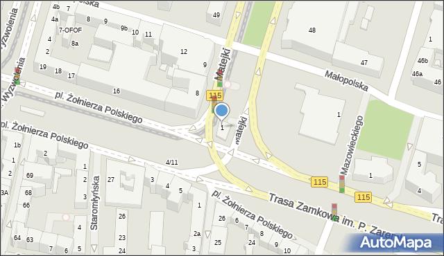 Szczecin, Plac Hołdu Pruskiego, 1, mapa Szczecina