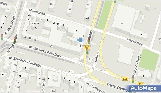 Szczecin, Plac Hołdu Pruskiego, 8, mapa Szczecina