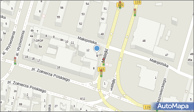 Szczecin, Plac Hołdu Pruskiego, 9, mapa Szczecina
