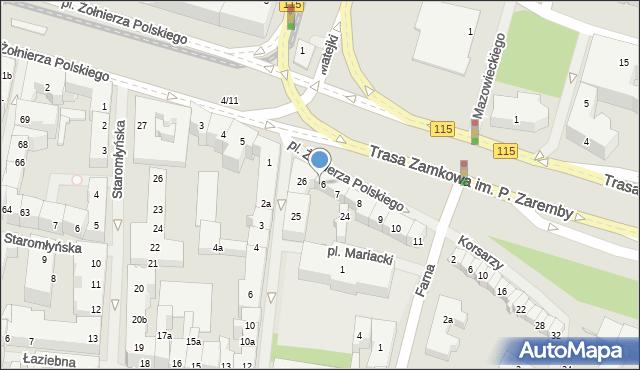 Szczecin, Plac Żołnierza Polskiego, 6/7, mapa Szczecina