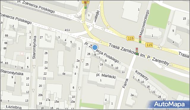 Szczecin, Plac Żołnierza Polskiego, 6, mapa Szczecina