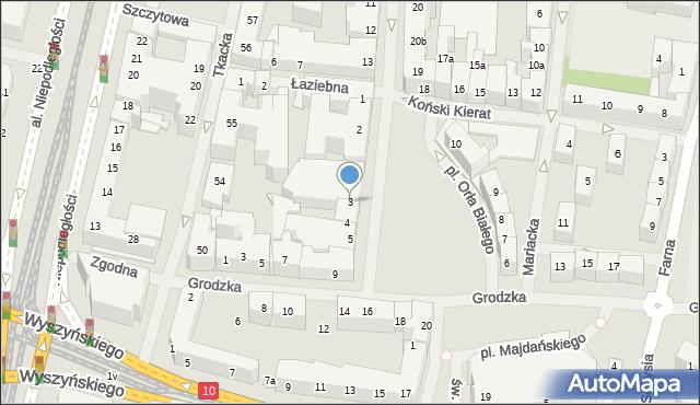 Szczecin, Plac Orła Białego, 3, mapa Szczecina