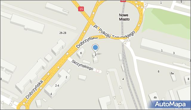 Toruń, Plac Pokoju Toruńskiego, 2, mapa Torunia