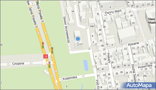 Toruń, Plac Rapackiego Mariana, 1, mapa Torunia