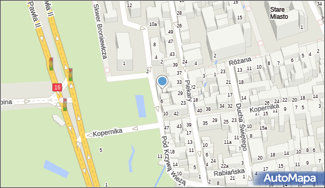 Toruń, Plac Rapackiego Mariana, 5, mapa Torunia