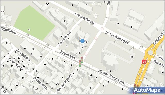 Toruń, Plac św. Katarzyny, 7, mapa Torunia
