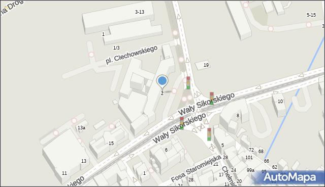 Toruń, Plac Teatralny, 2, mapa Torunia