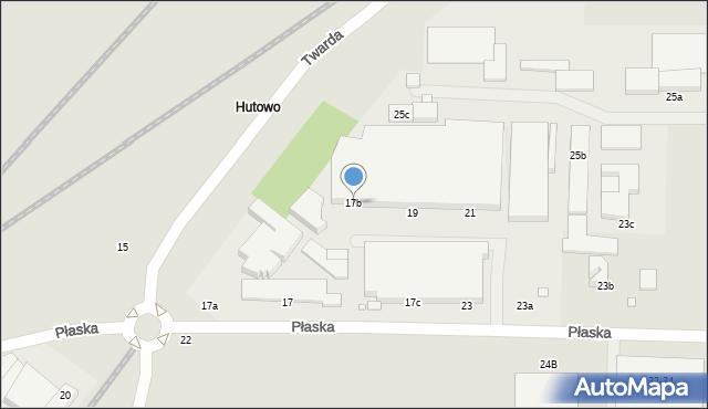 Toruń, Płaska, 17b, mapa Torunia