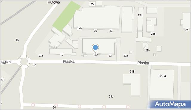 Toruń, Płaska, 17c, mapa Torunia