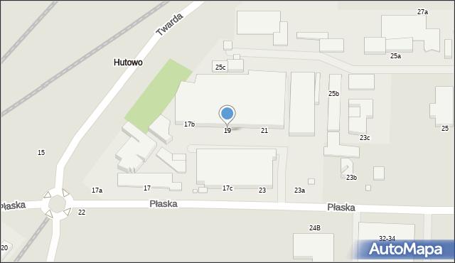 Toruń, Płaska, 19, mapa Torunia