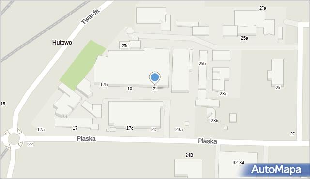 Toruń, Płaska, 21, mapa Torunia