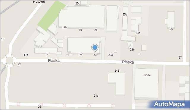 Toruń, Płaska, 23, mapa Torunia