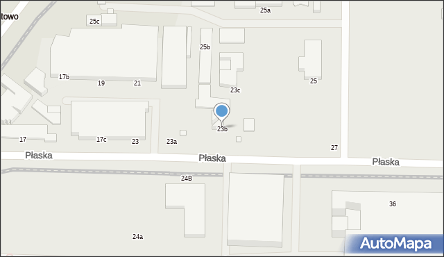 Toruń, Płaska, 23b, mapa Torunia