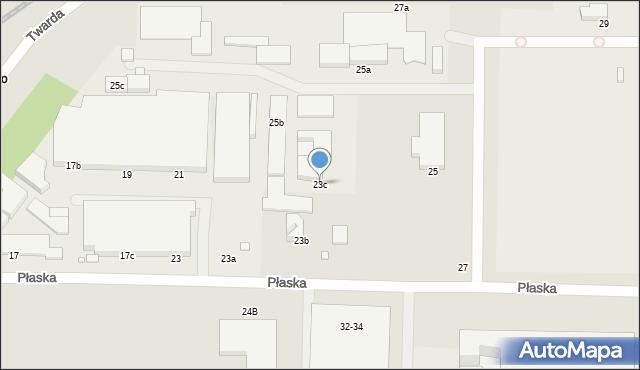 Toruń, Płaska, 23c, mapa Torunia