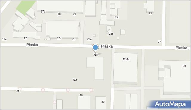 Toruń, Płaska, 24B, mapa Torunia