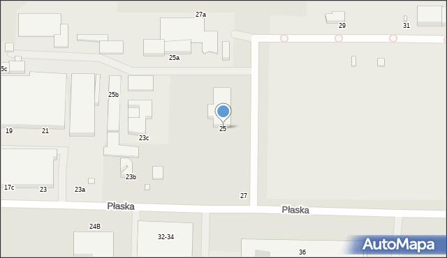 Toruń, Płaska, 25, mapa Torunia