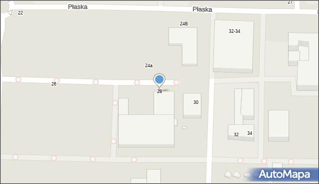 Toruń, Płaska, 28, mapa Torunia