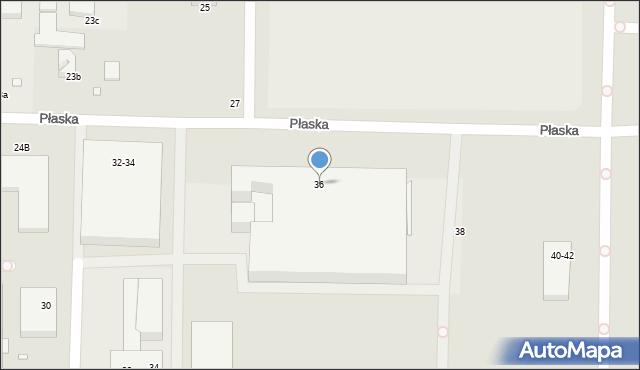 Toruń, Płaska, 36, mapa Torunia