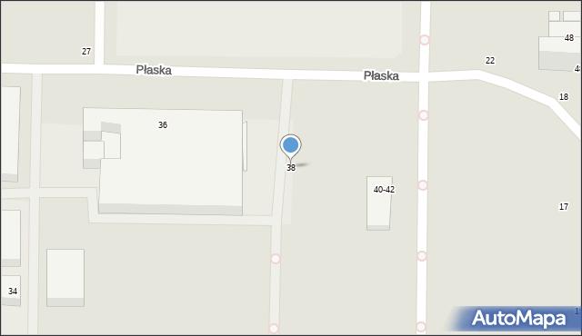 Toruń, Płaska, 38, mapa Torunia