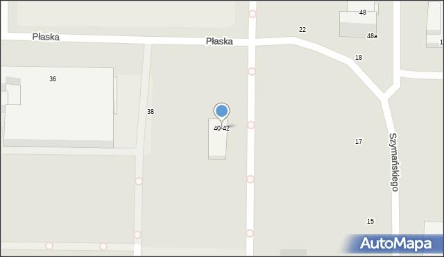Toruń, Płaska, 44, mapa Torunia