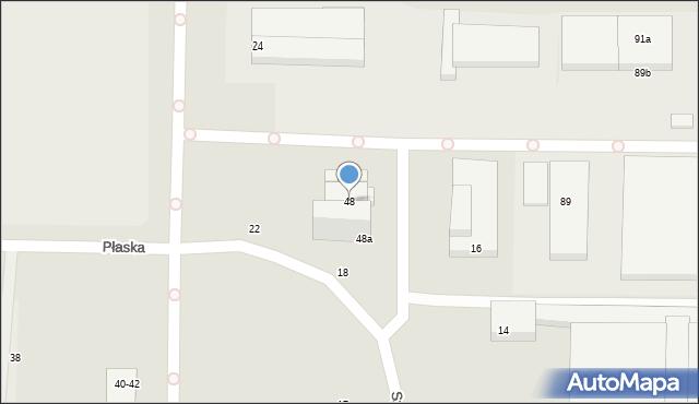 Toruń, Płaska, 48, mapa Torunia
