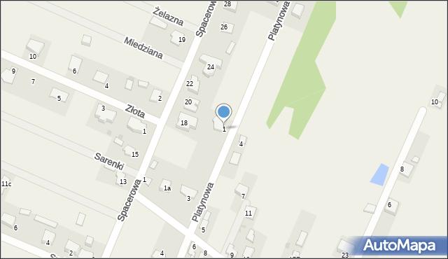 Wacyn, Platynowa, 1, mapa Wacyn