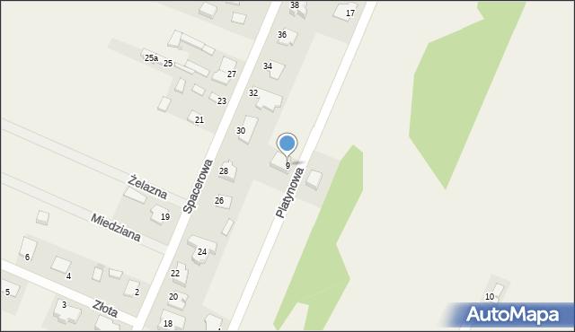Wacyn, Platynowa, 9, mapa Wacyn