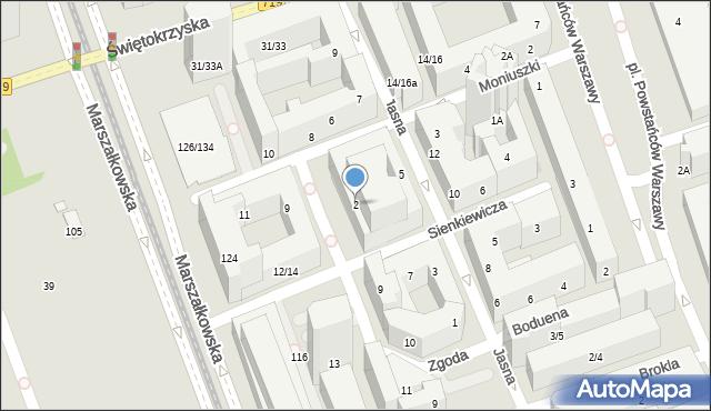 Warszawa, Plac Młynarskiego Emila, 2, mapa Warszawy