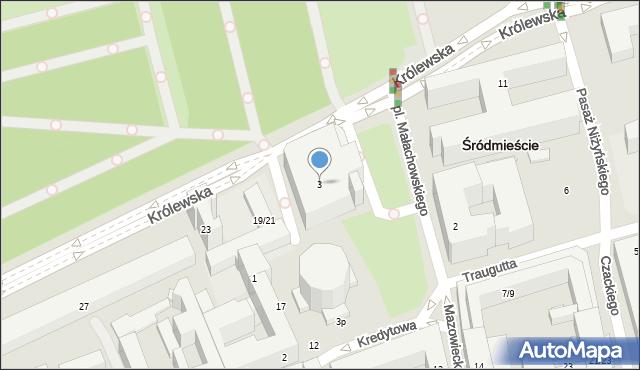 Warszawa, Plac Małachowskiego Stanisława, 3, mapa Warszawy