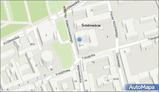 Warszawa, Plac Małachowskiego Stanisława, 2, mapa Warszawy